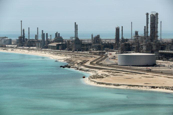 FILE PHOTO: General view of Saudi Aramco's Ras Tanura oil refinery and oil terminal in Saudi Arabia . REUTERS/Ahmed Jadallah