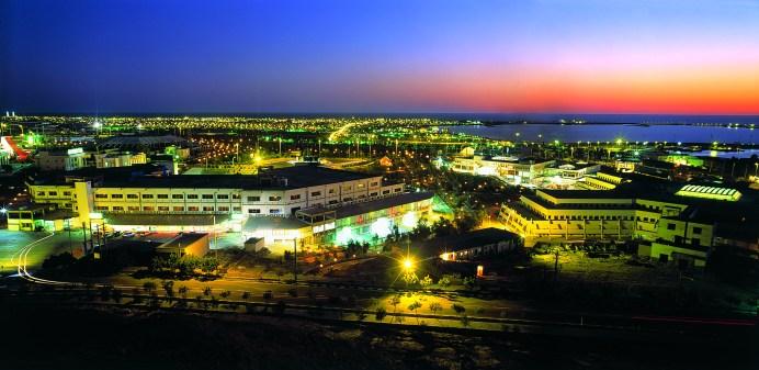 Chabahar port night view