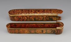 Pen Case Signed by the court painter Muhammad Isma'il Iran, 1864-65 Copyright © Aga Khan Museum