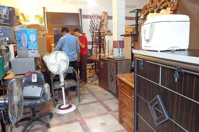 A resale shop offering secondhand furniture. Source: Kayhan London