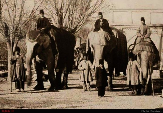 Qajar-Era Elephant House, 1917. Source: Kayhan London