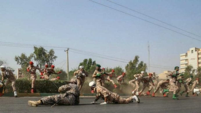 Terrorist attack during a military parade in Ahvaz. Source: Kayhan London