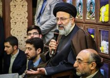 FILE PHOTO: Ebrahim Raisi delivers speech at Tehran's Hory Mosque. 10 April 2017 Source:Tasnimnews.com/ Author:Hamed Malekpour. Attribution 4.0 International (CC BY 4.0)
