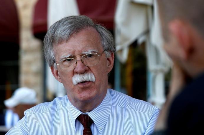 U.S. National Security Advisor John Bolton. REUTERS/RonenZvulun