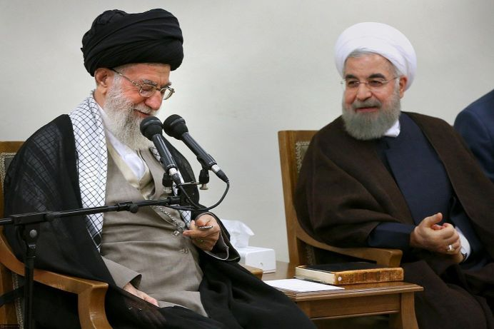 FILE PHOTO: Ali Khamenei meets with Hassan Rouhani. Source/Author: khamenei.ir. [This file is licensed under the Creative Commons Attribution 4.0 International license.]