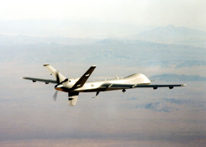 MQ-9 unmanned aerial vehicle. (U.S. Air Force photo)
