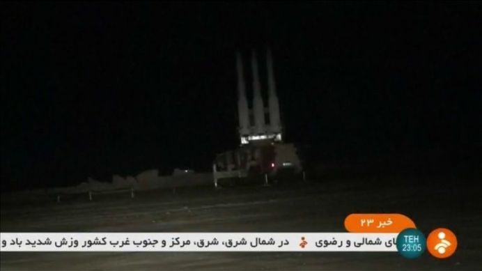 Iran releases footage of missile it says shot down a U.S. military drone - Iranian state TV. REUTERS