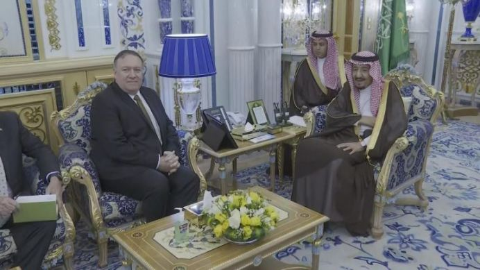 Pompeo visits Saudi Arabia as U.S. prods Iran for talks. REUTERS