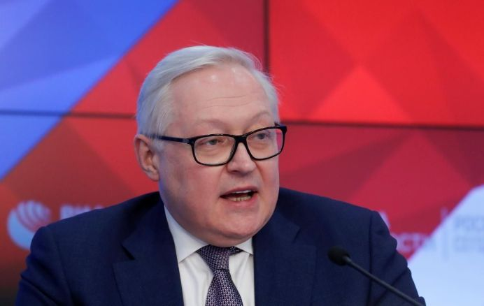 FILE PHOTO: Russian Deputy Foreign Minister Sergei Ryabkov speaks during a news conference in Moscow, Russia February 7, 2019. REUTERS/Maxim Shemetov