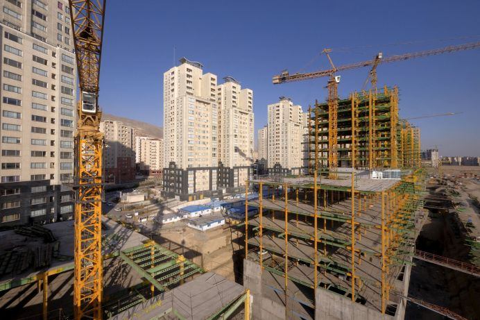 FILE PHOTO: A view shows buildings under construction in Tehran, Iran. REUTERS
