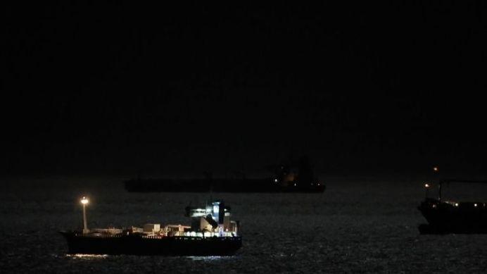 FILE PHOTO: Iranian tanker leaving Gibraltar overnight. REUTERS./