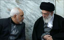 FILE PHOTO: Javad Zarif (L) with Ali Khamenei (R). Source: Kayhan London