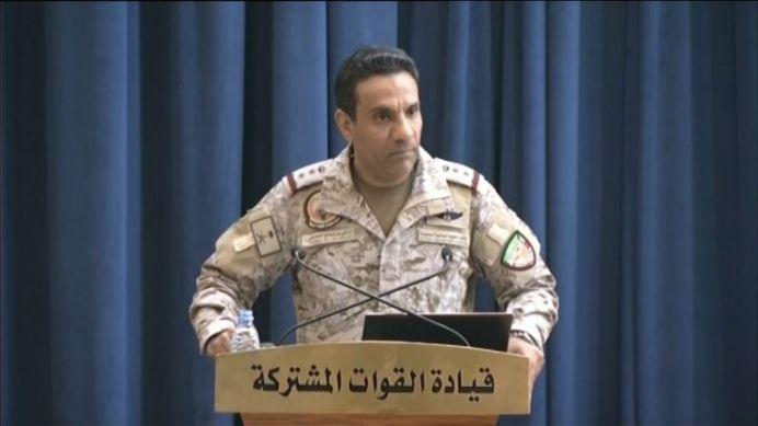 Coalition spokesman Colonel Turki al-Malki. REUTERS./