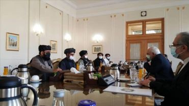 Members of Taliban meeting with Zarif, in Iran. February 2021. Kayhan London