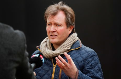 Richard Ratcliffe, husband of British-Iranian aid worker Nazanin Zaghari-Ratcliffe is interviewed as he protests outside the Iranian Embassy in London, Britain March 8, 2021. REUTERS/Andrew Boyers