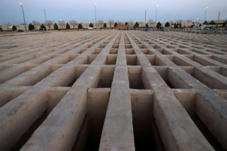 A general view of a cemetery, where dead people and coronavirus disease (COVID-19) victims are buried, in south of Tehran, Iran. REUTERS./