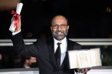 Asghar Farhadi poses with the Grand Prix Ex-Aequo for Hytti nro 6 for A Hero during the 74th annual Cannes Film Festival on July 17, 2021 in Cannes, France. Photo by David Niviere/ABACAPRESS.COM