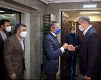 International Atomic Energy Agency (IAEA) Director General Rafael Grossi meets with head of Iran's Atomic Energy Organization Mohammad Eslami, in Tehran, Iran, September 12, 2021. REUTERS./
