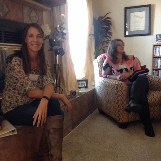 Mentors read for Bible lesson