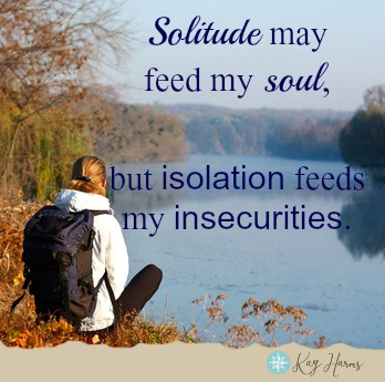 Solitude vs. Isolation graphic