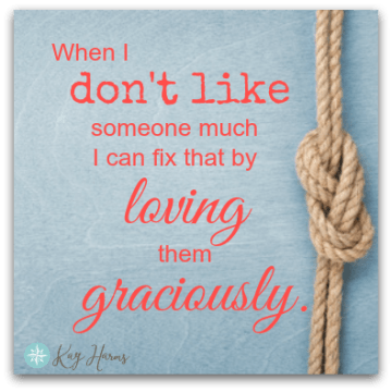 When I Don't Like Someone - Graphic