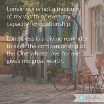 Loneliness - a Divine Reminder image