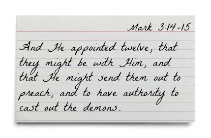 Mark 3:14-15 Image