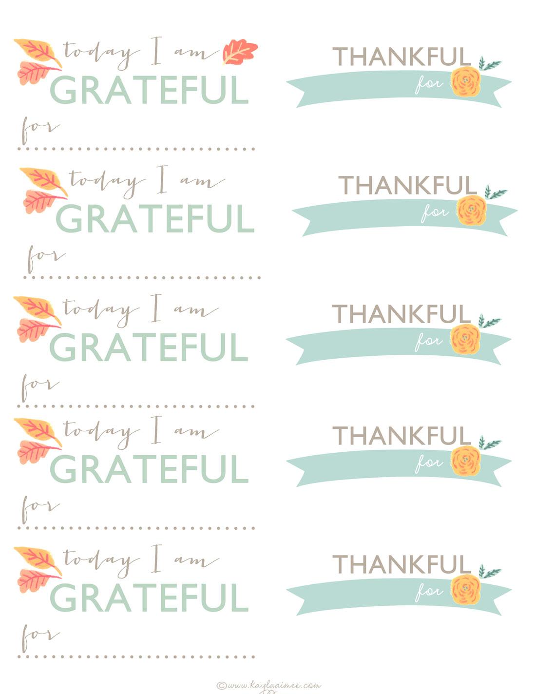 Thanksgiving Gratitude Jar Free Printable Thankful Cards