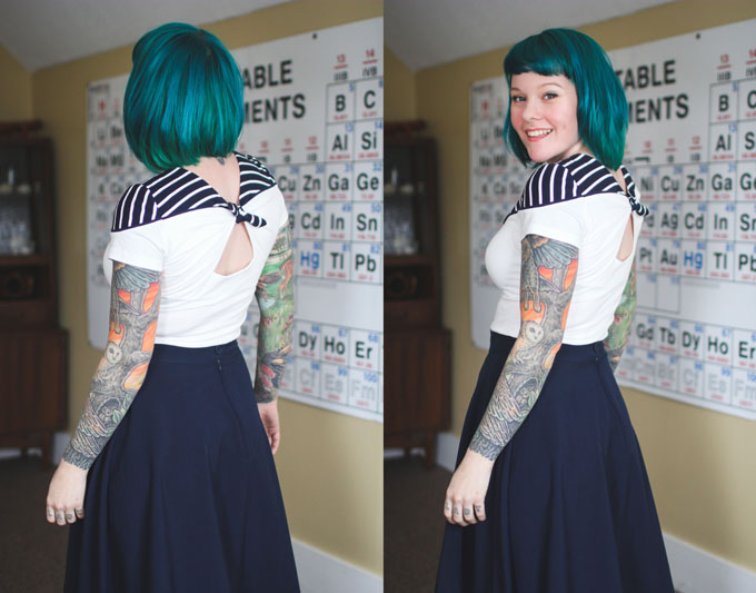 blue hair, green hair, dyed hair, colorful hair, the dainty squid, kaylah doolan hair