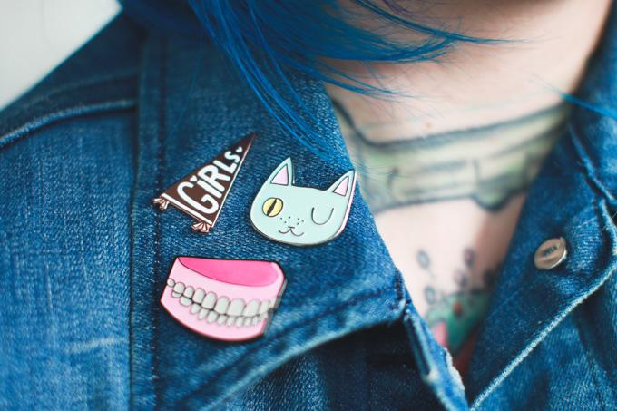 dentures, enamel pin, pin game