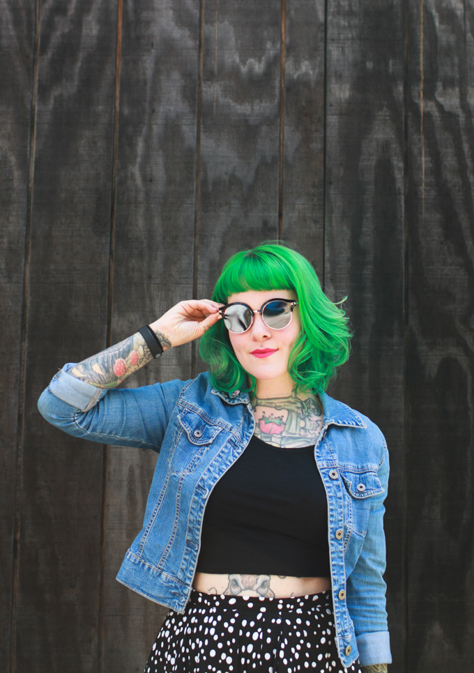 green hair, cleveland, blog, kaylah doolan