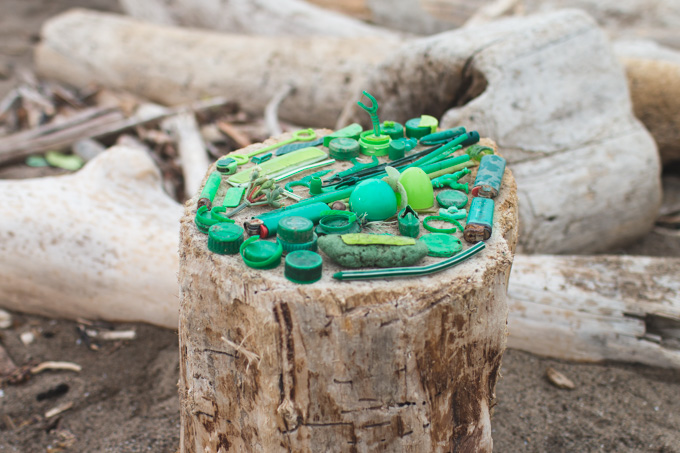 beach trash, lake erie, cleveland, green, plastic