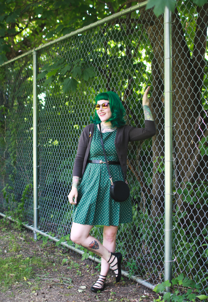 green hair, the dainty squid, fashion blog, cleveland, green