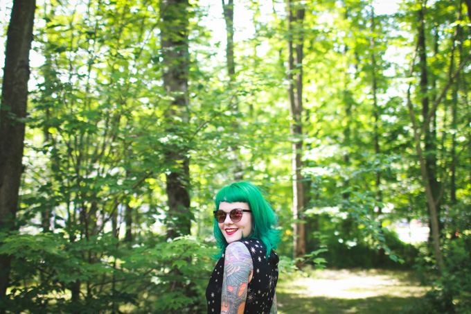 what I wore, green hair, kaylah doolan