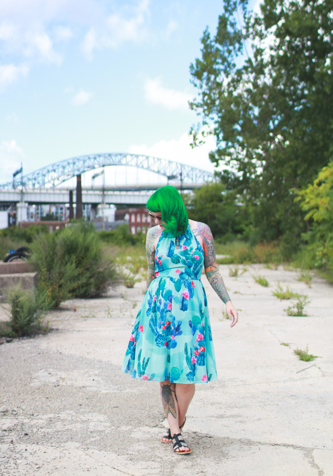 the dainty squid, cactus dress, cleveland fashion blog, cleveland