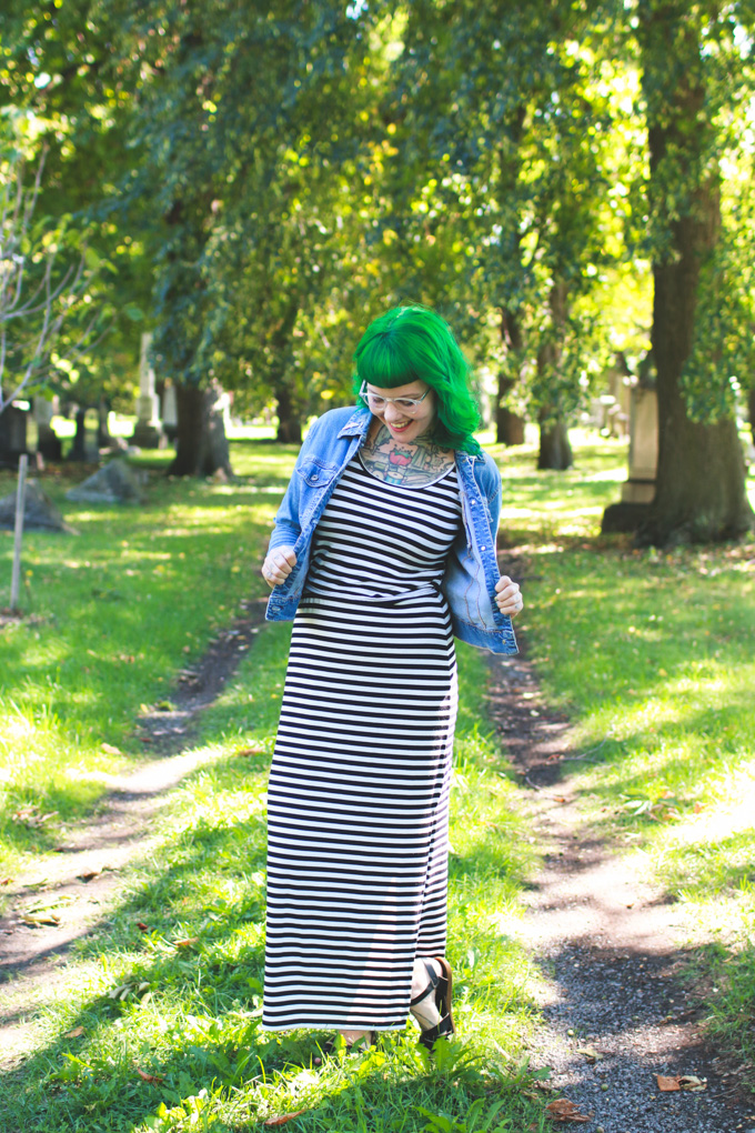 OOTD, Cleveland fashion blog, what I wore, striped maxi skirt