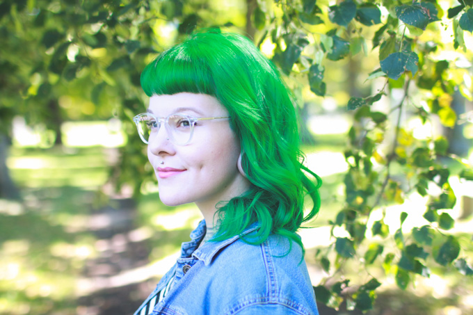 the dainty squid, kaylah doolan, green hair