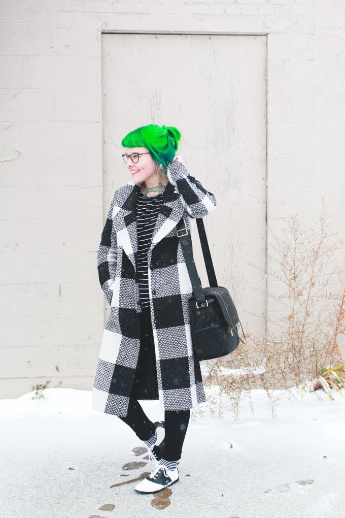 kaylah doolan, fashion blog, green hair