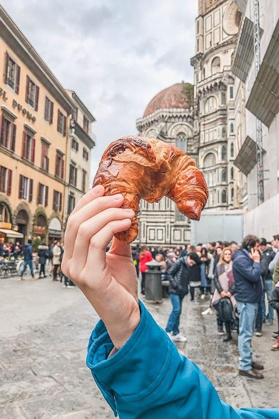 croissant in Florence Italy