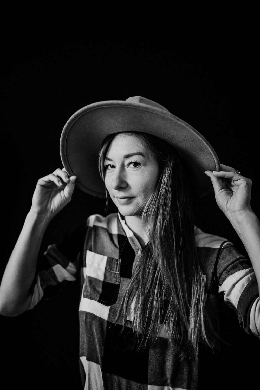 Kayla Kohn photographer in Lawrence Kansas self portrait