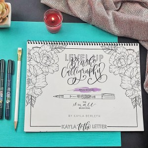 Level Up Brush Calligraphy Majuscules Workbook