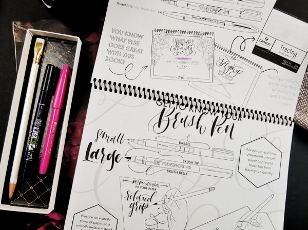 Level Up Brush Calligraphy Workbook Page Get to know your pen