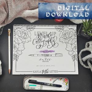 Level Up Brush Calligraphy Workbook Digital Download