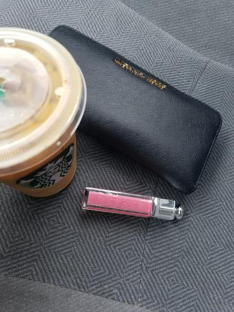 Starbucks and Dior Lipgloss, Michael Kors Wallet