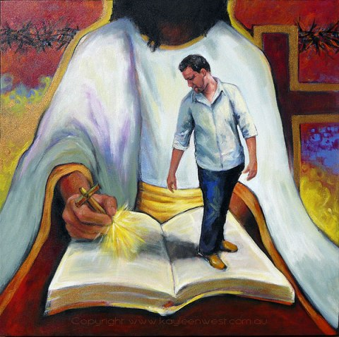 Acrylic Painting: Ordinances Against Us
