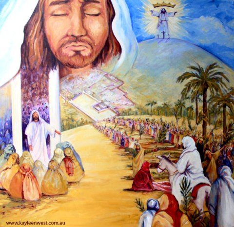 Oil Painting: The Story Of Palm Sunday
