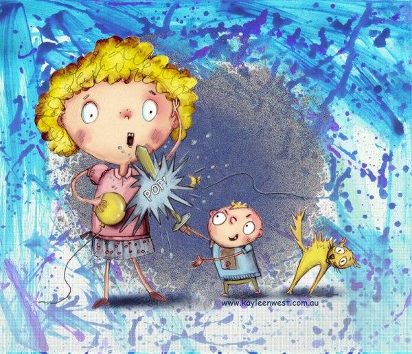 Little Brother Cartoon Illustration for children