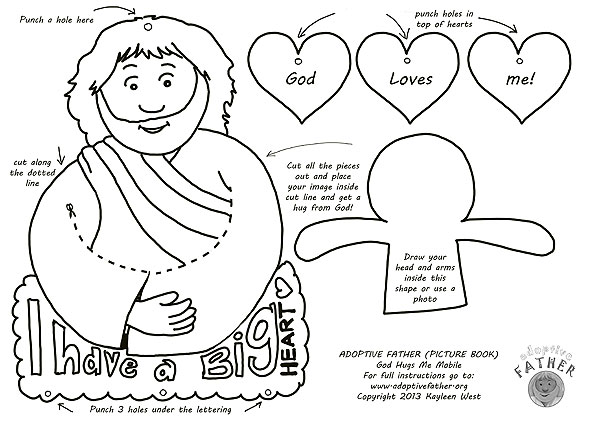 graphic regarding Printable Pictures of Jesus named Totally free colouring printables - Jesus hugs me cell.