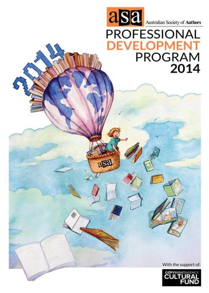 Australian Society of Authors Professional Development Program cover 2014. Painted in watercolour.