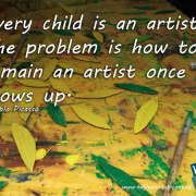 Every child is an artist. The problem is how to remain an artist once he grows up. Illustration style